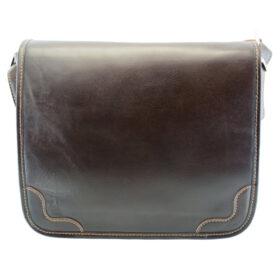 کیف دوشی بند پهن چرم طبیعی