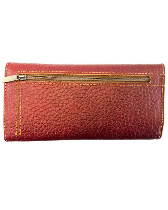 کیف دستی چرم طبیعی زرشکی
