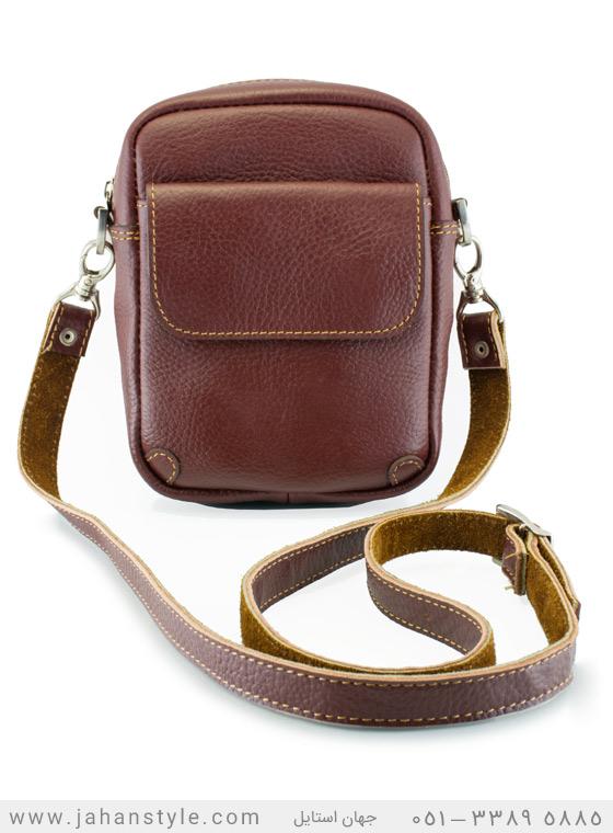 کیف دوشی روزمره چرم طبیعی زشکی
