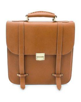 کیف دوشی چرم طبیعی عسلی