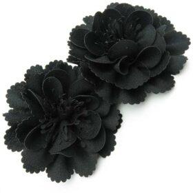 گل سر مشکی مدل گل میخک