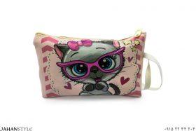 کیف لوازم آرایشی طرح فانتزی گربه
