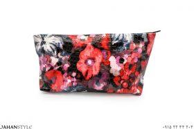 کیف آرایشی طرح آبرنگی گلدار
