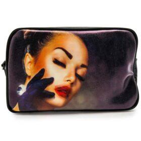 کیف آرایشی مشکی طرح فانتزی