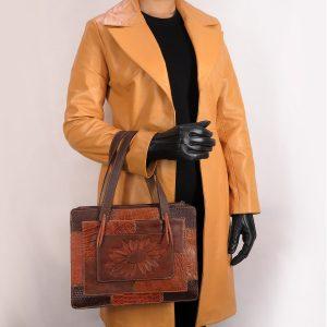 کیف قلم زنی روی چرم طبیعی