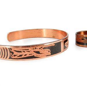 دستبند و انگشتر مسی مردانه