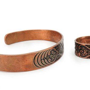دستبند مردانه و زنانه مسی