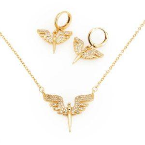 نیم ست طرح فرشته طلایی